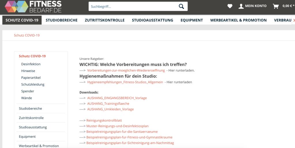 Screenshot von bedarf.de