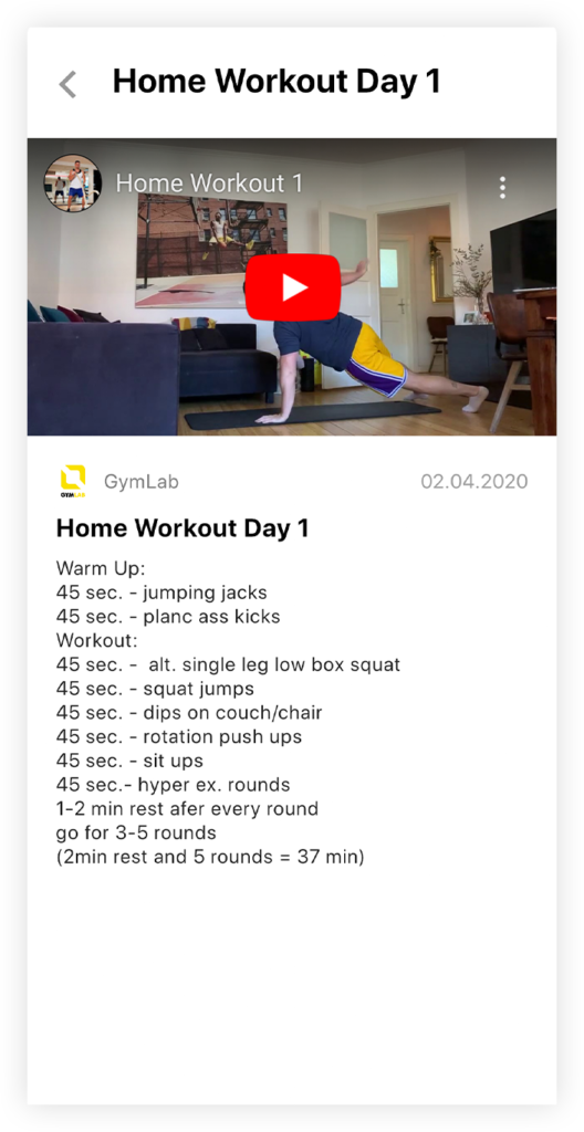 Vorschaubild: Home-Workout mit Max