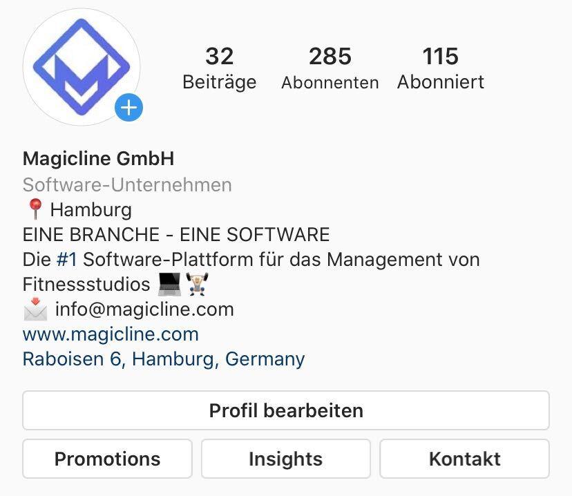 Beispielbild: Biografie und Kontaktinformationen der Magicline
