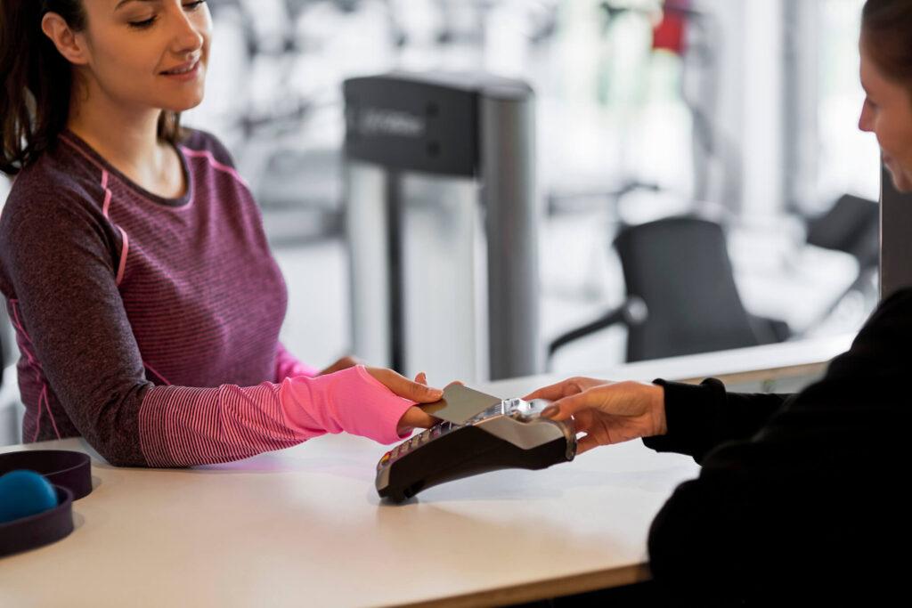 Bild: Bezahlvorgang beim Check-In