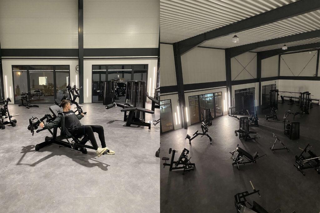 Área de entrenamiento en el gimnasio TIEGEL