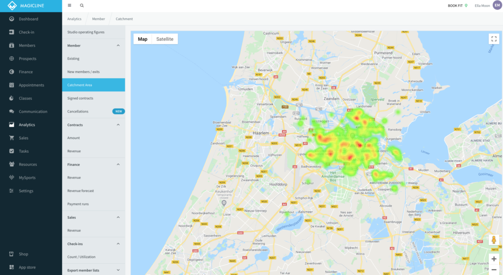 Analyse your catchment area