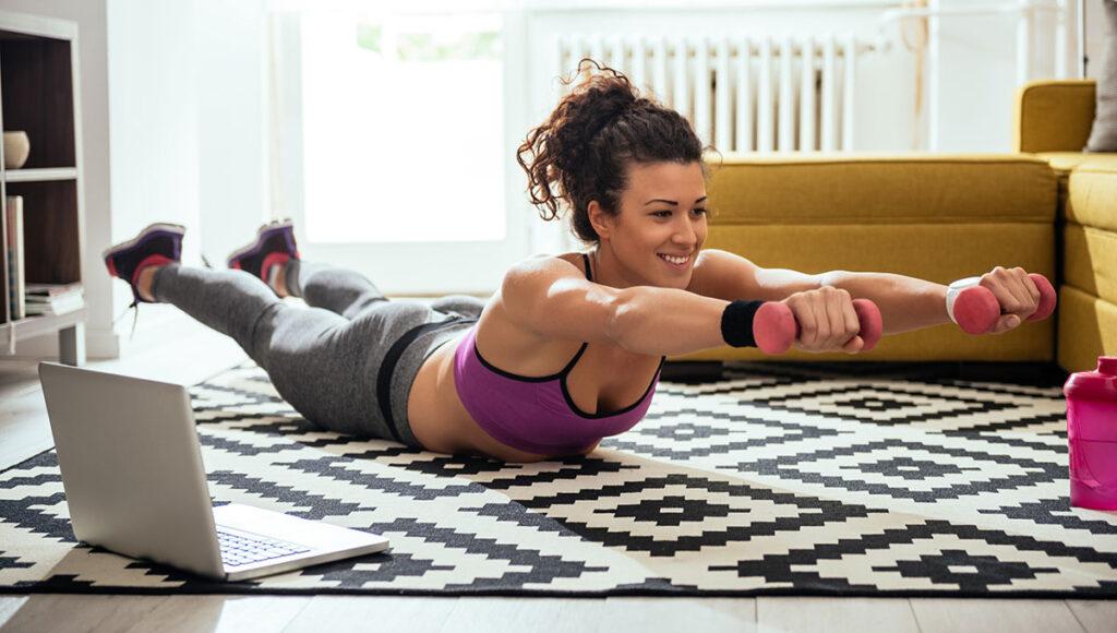Beispiel-Bild: Training zu Hause via Zoom