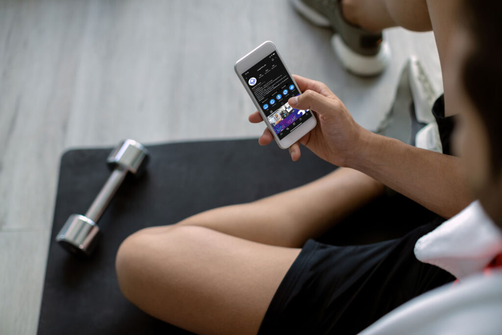 Image: Social media for fitness studios