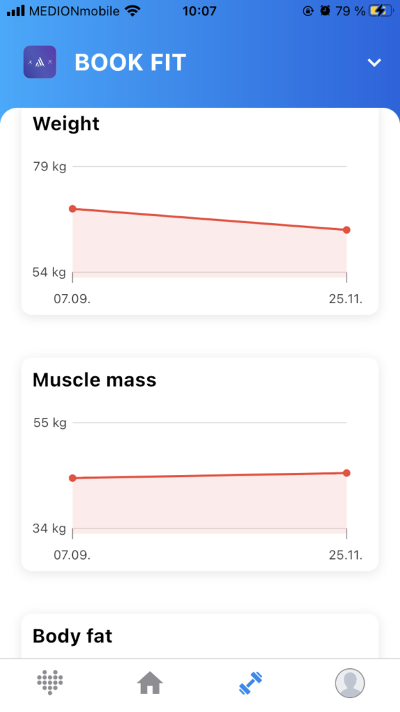 Image: Tracking improvements in the MySports App